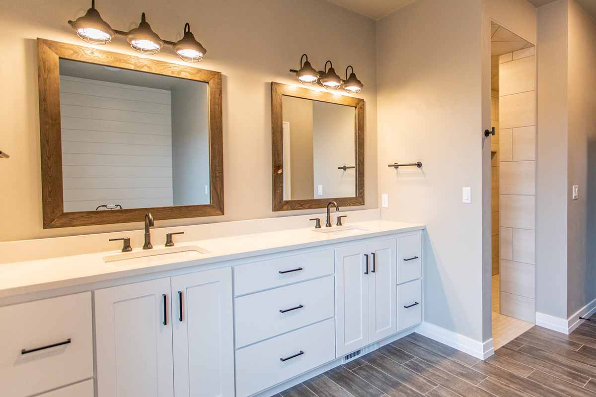 custom built bathroom in Green Bay, WI by LeMense Quality Homes, Inc.